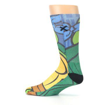 Image of Ninja Turtles Leonardo Men's Casual Socks (side-2-12)