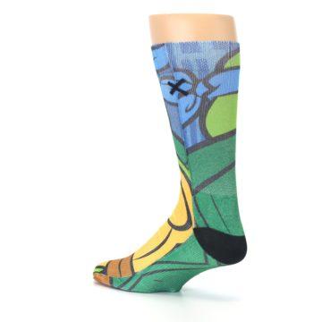 Image of Ninja Turtles Leonardo Men's Casual Socks (side-2-back-14)