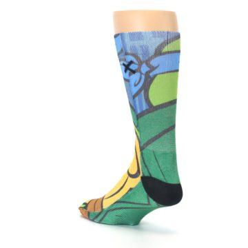 Image of Ninja Turtles Leonardo Men's Casual Socks (side-2-back-15)