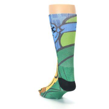 Image of Ninja Turtles Leonardo Men's Casual Socks (side-2-back-16)