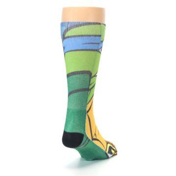Image of Ninja Turtles Leonardo Men's Casual Socks (side-1-back-20)