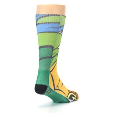 Image of Ninja Turtles Leonardo Men's Casual Socks (side-1-back-21)