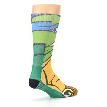 Image of Ninja Turtles Leonardo Men's Casual Socks (side-1-back-22)