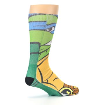 Image of Ninja Turtles Leonardo Men's Casual Socks (side-1-23)