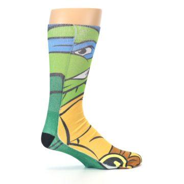 Image of Ninja Turtles Leonardo Men's Casual Socks (side-1-24)
