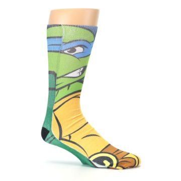 Image of Ninja Turtles Leonardo Men's Casual Socks (side-1-25)