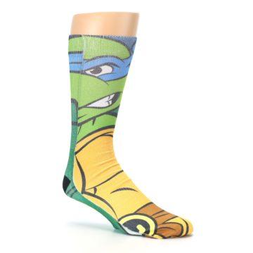 Image of Ninja Turtles Leonardo Men's Casual Socks (side-1-26)