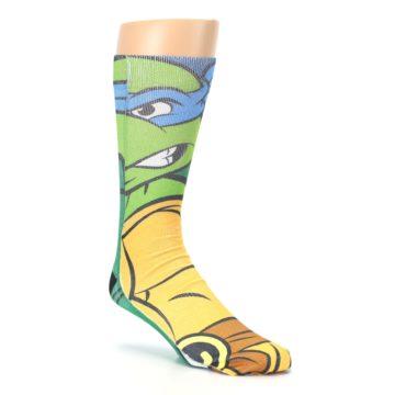 Image of Ninja Turtles Leonardo Men's Casual Socks (side-1-27)