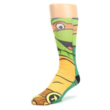 Image of Ninja Turtles Michelangelo Men's Casual Socks (side-2-front-08)