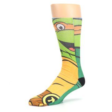 Image of Ninja Turtles Michelangelo Men's Casual Socks (side-2-09)