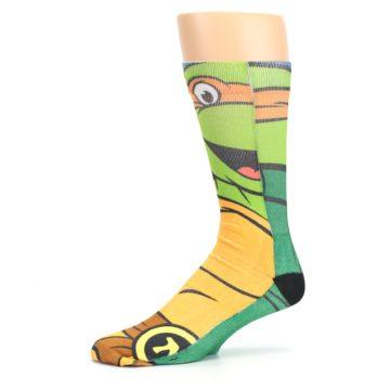 Image of Ninja Turtles Michelangelo Men's Casual Socks (side-2-10)