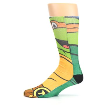 Image of Ninja Turtles Michelangelo Men's Casual Socks (side-2-11)