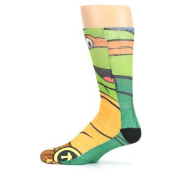 Image of Ninja Turtles Michelangelo Men's Casual Socks (side-2-12)