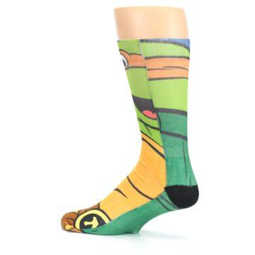 Image of Ninja Turtles Michelangelo Men's Casual Socks (side-2-13)
