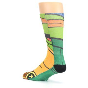 Image of Ninja Turtles Michelangelo Men's Casual Socks (side-2-back-14)