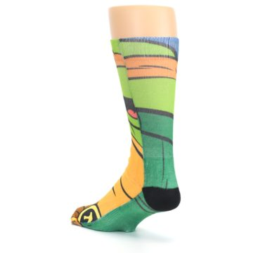 Image of Ninja Turtles Michelangelo Men's Casual Socks (side-2-back-15)
