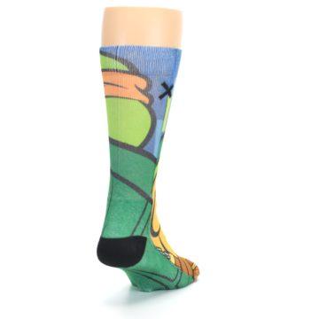 Image of Ninja Turtles Michelangelo Men's Casual Socks (side-1-back-20)