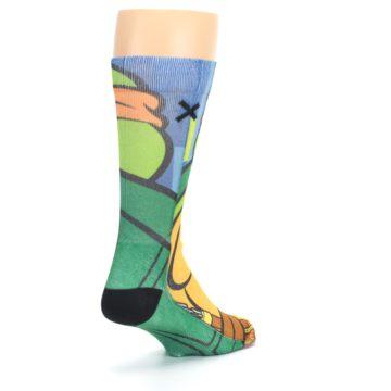 Image of Ninja Turtles Michelangelo Men's Casual Socks (side-1-back-21)