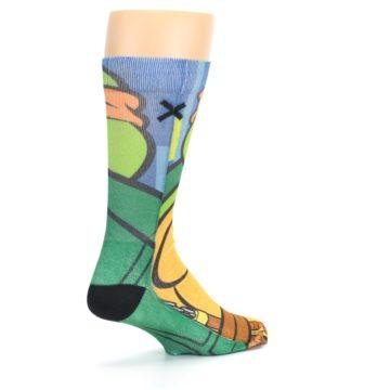 Image of Ninja Turtles Michelangelo Men's Casual Socks (side-1-back-22)