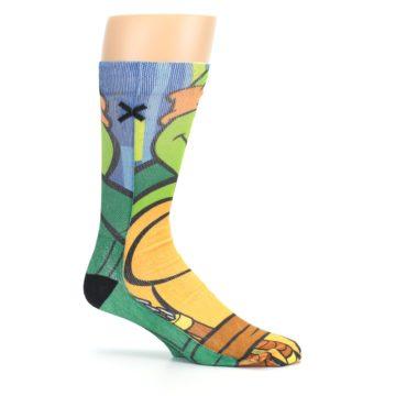 Image of Ninja Turtles Michelangelo Men's Casual Socks (side-1-25)