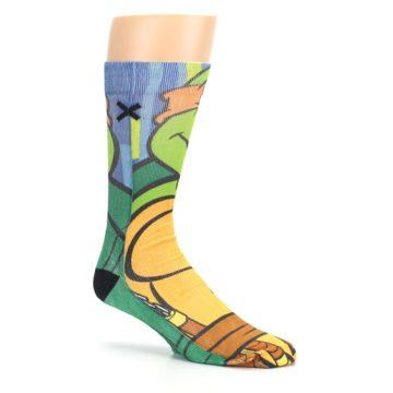 Image of Ninja Turtles Michelangelo Men's Casual Socks (side-1-26)