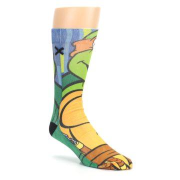 Image of Ninja Turtles Michelangelo Men's Casual Socks (side-1-27)