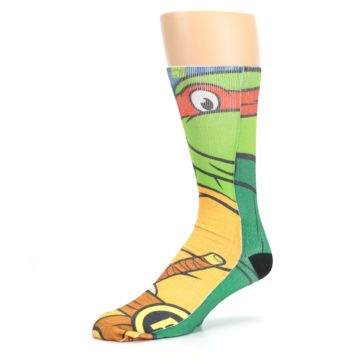 Image of Ninja Turtles Raphael Men's Casual Socks (side-2-09)