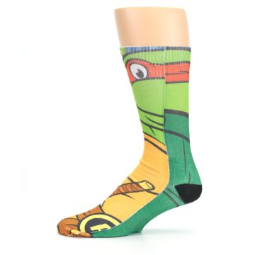 Image of Ninja Turtles Raphael Men's Casual Socks (side-2-11)