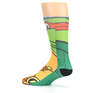 Image of Ninja Turtles Raphael Men's Casual Socks (side-2-13)