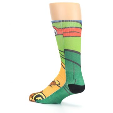 Image of Ninja Turtles Raphael Men's Casual Socks (side-2-back-14)