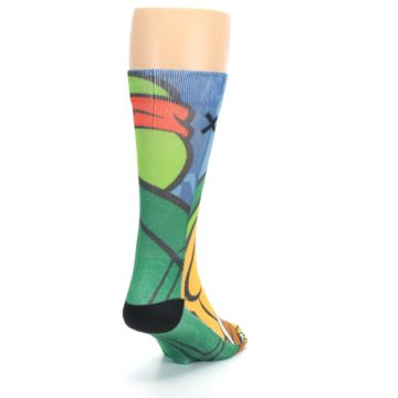 Image of Ninja Turtles Raphael Men's Casual Socks (side-1-back-20)