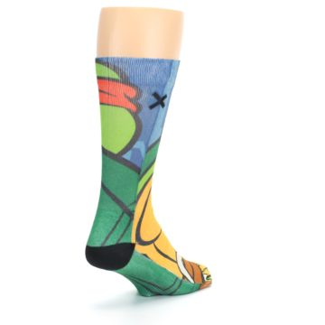 Image of Ninja Turtles Raphael Men's Casual Socks (side-1-back-21)