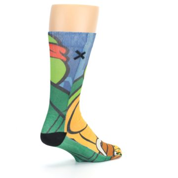 Image of Ninja Turtles Raphael Men's Casual Socks (side-1-back-22)