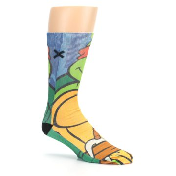 Image of Ninja Turtles Raphael Men's Casual Socks (side-1-26)