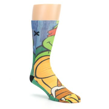 Image of Ninja Turtles Raphael Men's Casual Socks (side-1-27)