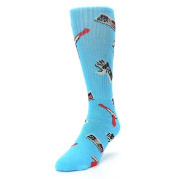 Image of Blue Retro Gamer Men's Casual Socks (side-2-front-07)