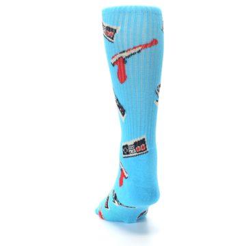 Image of Blue Retro Gamer Men's Casual Socks (back-17)