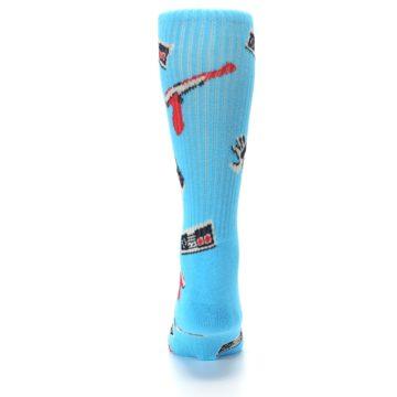 Image of Blue Retro Gamer Men's Casual Socks (back-18)