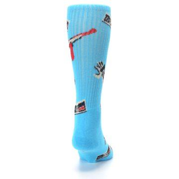 Image of Blue Retro Gamer Men's Casual Socks (back-19)