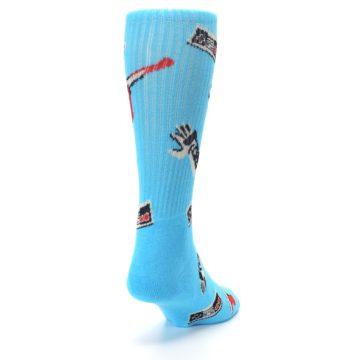 Image of Blue Retro Gamer Men's Casual Socks (side-1-back-20)