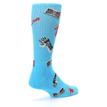 Image of Blue Retro Gamer Men's Casual Socks (side-1-back-22)