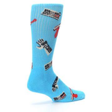 Image of Blue Retro Gamer Men's Casual Socks (side-1-23)