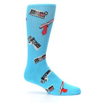 Image of Blue Retro Gamer Men's Casual Socks (side-1-25)