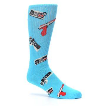 Image of Blue Retro Gamer Men's Casual Socks (side-1-26)