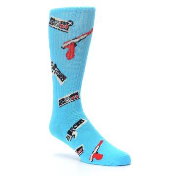 Image of Blue Retro Gamer Men's Casual Socks (side-1-27)