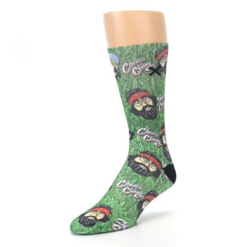 Image of Green Cheech and Chong Men's Casual Socks (side-2-front-08)