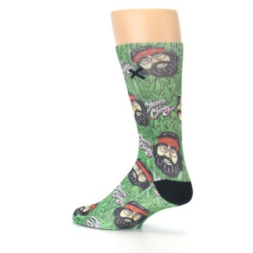 Image of Green Cheech and Chong Men's Casual Socks (side-2-back-14)