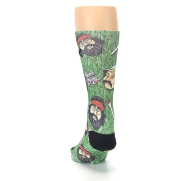 Image of Green Cheech and Chong Men's Casual Socks (back-17)