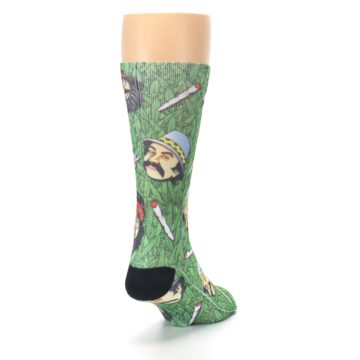 Image of Green Cheech and Chong Men's Casual Socks (side-1-back-20)