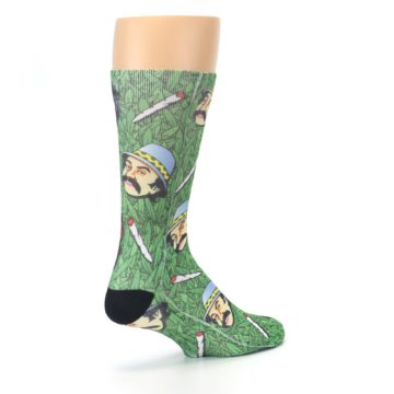 Image of Green Cheech and Chong Men's Casual Socks (side-1-back-22)